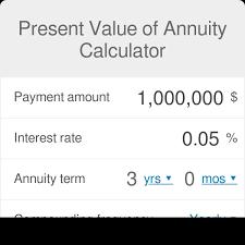 Present Value Of Annuity Calculator Omni