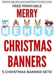 Printable Letter For Banners Free Printable Merry Christmas Banners Printables And