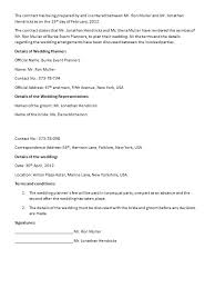 wedding contract templates wedding contract templatejpg