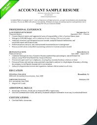 Good Accountant Resume 5 Cv Template Doc Shiftevents Co