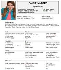 Special Skills For Acting Resume   Free Resume Example And Writing