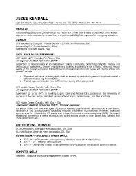 Emt Resume Samples Emt B Resume Sample Emt Resume Samples Resume