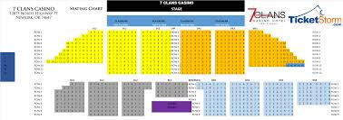 First Council Casino Concerts Seating Chart Entertainment 7 Clans Casinos