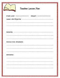 teacher lesson plan template free lesson plan template lesson plan template for teachers