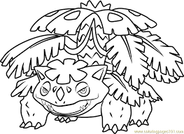 Small Picture Mega Venusaur Pokemon Coloring Page Free Pokmon Coloring Pages