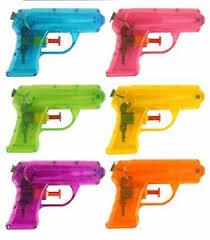 Small Water Gun Pink Orange Green Yellow 11cm Kids Outdoor Party Toy