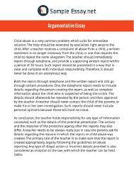 Pin By Sample Essays On Argumentative Essay Sample Essay