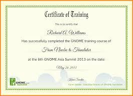 Format For Training Certificate Lovely Puter Training Certificate