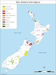 Central Otago Climate Chart New Zealand Wine Map Of Vineyards Of Central Otago Nelson