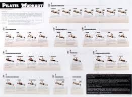 Aero Pilates Exercise Wall Chart Pilates Chart Of Exercises Using Reformer Pilates