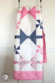 New Bow Tie Quilt Pattern - The Polka Dot Chair & Dad's Bow Tie Quilt pattern; available in both twin or baby quilt size.  Great Adamdwight.com