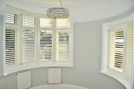 bay window blinds. Rounded Bay Window Plantation Shutters Blinds