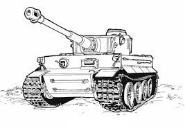 Tank Tijger Kleurplaat Gratis Kleurplaten Printen