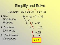 simplify and solve example 3x 2 2x 1 33