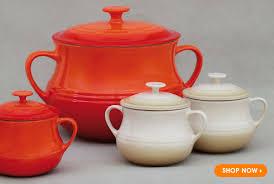le creuset soup pot. Le Creuset Large Bean Pot And Set Of Two Small Soup Bowls E
