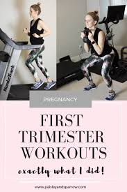 first trimester workouts what i did
