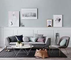 scandinavian pastel color living room