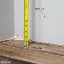 Leveling Kitchen Floor How To Use A Laser Level The Family Handyman