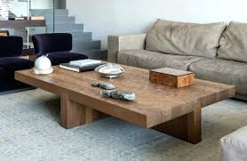 large wood coffee table large square