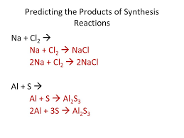4 predicting the s of synthesis reactions na cl 2 na cl 2 nacl 2na cl 2 2nacl al s al s al 2 s 3 2al 3s al 2 s 3