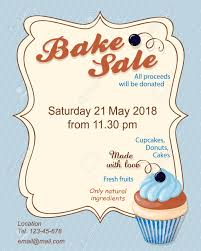 Bake Sale Flyer Templates Free Colorful Flyer Template For Bake Sale Promotion Or Banner For