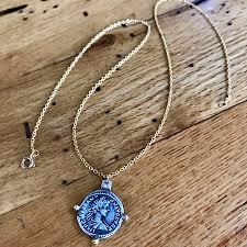hand cast roman coin sterling silver