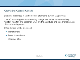 alternating current examples appliances. alternating current circuits examples appliances o
