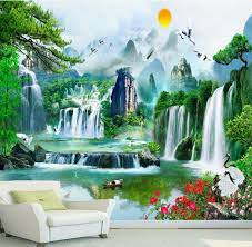 Wallpaper custom 3d, Perabotan Rumah di ...