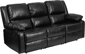 modern leather 3 seater recliner sofa