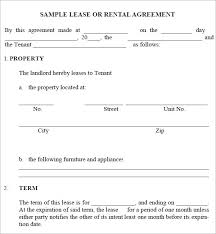 Sample Monthly Rental Agreement. Lease Agreement Sample Month To ...