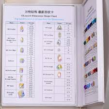A5 Flat Back Sew On Crystal Rhinestone Color Chart