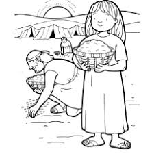 Small Picture Gathering Manna Coloring Page Sunday School Pinterest Sunday