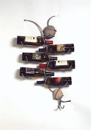 wall mounted metal wine rack. Bottle Wall Mounted Grapevine Metal Wine Rack Intended