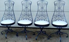 captivating rod iron chairs with furniture trendy chair design wrought set charming commercial outdoor