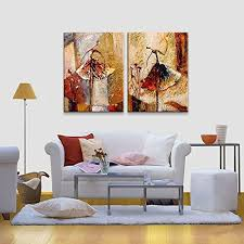 2 piece wall decor contemporary wieco art ballet dancers modern decorative artwork 100 with regard to 9  on decorative contemporary wall art with 2 piece wall decor modern 5 canvas art bedroom black and white