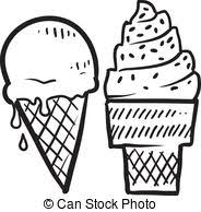 popsicle clipart black and white. Interesting White Ice Cream Cones Sketch  Doodle Ice Cone Frozen To Popsicle Clipart Black And White C