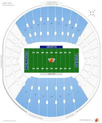 Liberty Football Seating Chart Liberty Bowl Sideline Football Seating Rateyourseats Com