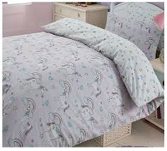 reversible magic unicorns stars duvet