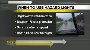 Hazard Light Laws Hazard Lights On When Its Raining The Law Explained To