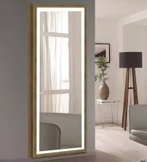 glass full length mirror in brown
