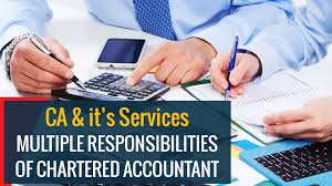 Charted Accountant Ca Its Services Multiple Responsibilities Of Chartered