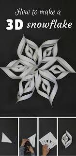 How To Make A 3d Snowflake How To Make A 3d Snowflake Snow Flakes Diy Christmas