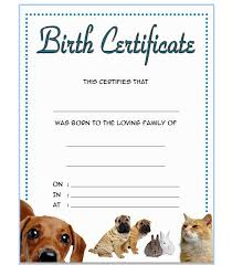 dog birth certificates pet birth certificate template 3 best 10 templates