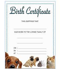 dog birth certificates pet birth certificate template 3 best 10 templates