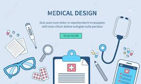 Office Banner Template Vector Medical Web Banner Template Doctors Office Concept