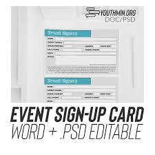 Event Registration Card Psd Doc