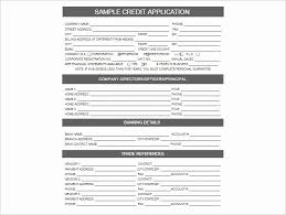 New Generic Credit Application Template Credit Form Template Best