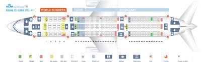 Seat Map Boeing 777 200 Klm Best Seats In The Plane
