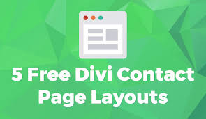 Green Layouts 5 Free Divi Contact Page Layouts Divi Cake Blog