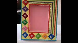 how to make handmade photo frame beautiful photo frame make easy photo frame